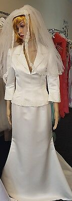 vintage style wedding dress .. size 12..very small especially skirt.2 piece