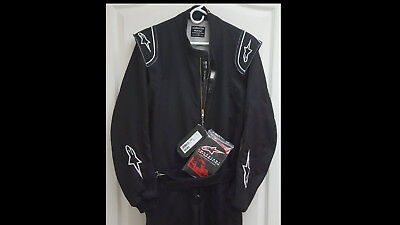 New Alpinestars Delta Racing Suit -- FIA Rated, Black, Size Euro 52