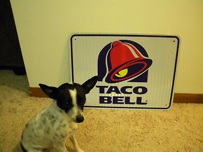 Authentic TACO BELL Interstate Exit Ramp Sign Reflective Aluminum~18x24
