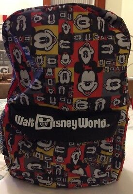 Walt Disney World Mickey Mouse Backpack --- Red Black Yellow /Brand New with Tag