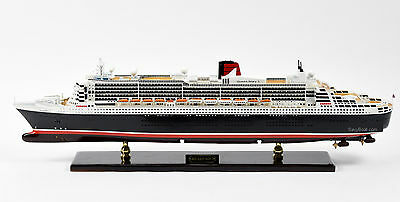 "RMS Queen Mary 2 Cunard Line Ocean Liner Handmade Ship Model 34"" Museum Quality"