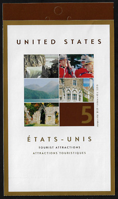 Canada Stamps — Booklet Pane of 6 — Tourist Attractions #1989 (BK270) — MNH
