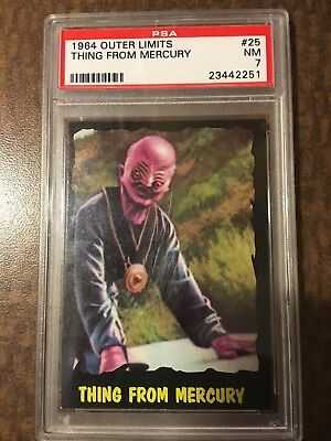 !!! 1964 Outer Limits Usa !!! #25 Thing From Mercury Psa Nm 7 !!! Set Break