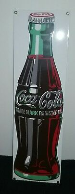 Porcelain Coca-Cola Coke Bottle Sign