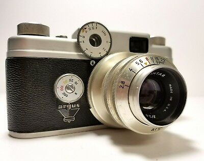 Argus C4 Camera with Cintar Coated Lens (C Four) with Original Leather Case
