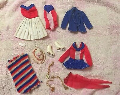 VIntage Barbie Olympic Wardrobe Sears 1970s -  Nearly complete
