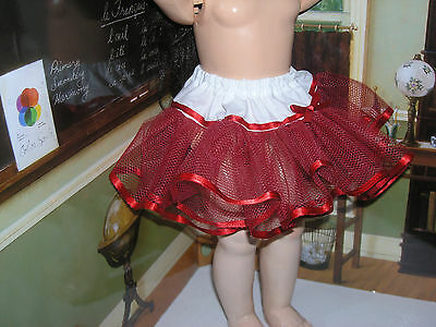 "Red Net Petticoat  22-23"" Doll clothes fits Ideal Saucy Walker or Pedigree"