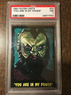 """!!! 1964 Outer Limits Usa !!! #32 """"you Are In My Power"""" Psa Nm 7 !!! Set Break"""