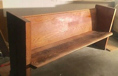 Vintage Church Pew Style Bench