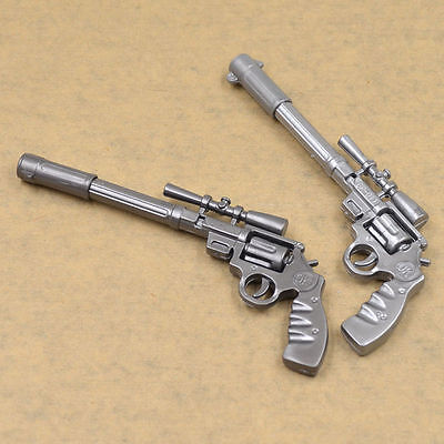 2pcs Novelty Funny Gun Shaped Ballpoint Pens Creative Kids Stationery Gift