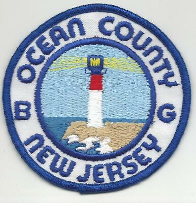 Ocean County NEW JERSEY NJ Police patch OLD Lighthouse
