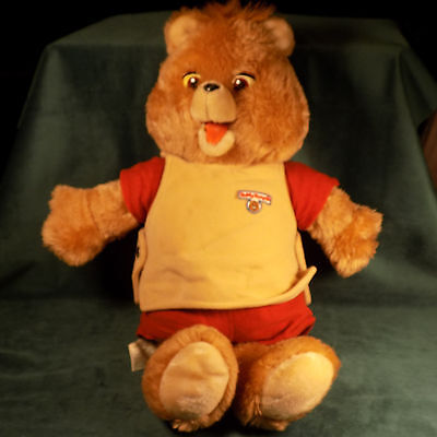 Vintage Teddy Ruxpin Doll Toy Plays Cassette Tapes