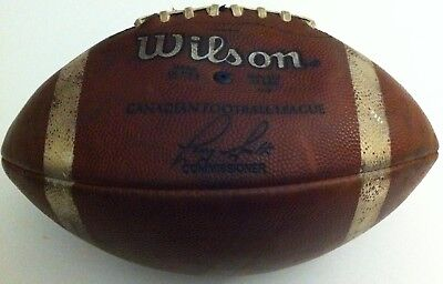 Vintage 1992-97 CFL Commissioner Larry Smith Wilson Leather Game Football