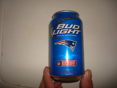 New England Patriots Bud Light Beer Empty Can 2012 NFL Kickoff