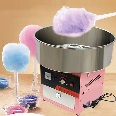 New Electric Commercial Cotton Candy Machine Kit Floss Maker Store Booth EU 220V