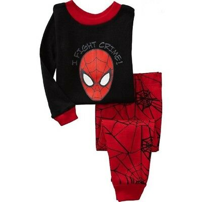2017 Fall new incoming Kids boys Spiderman pajamas set 2T sleepwear nightclothes