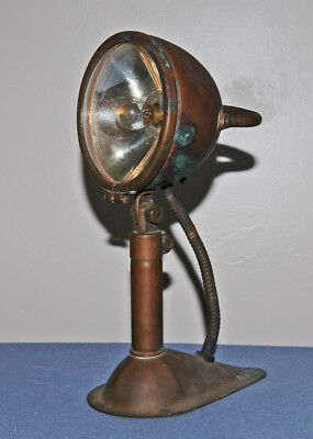 Vintage Old Marine Nautical Copper/Brass Spot/Search Light Lamp 1930s/1940s
