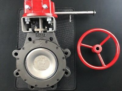"BRAY 6"" Butterfly Valve CF8M SS Disc WCB Steel Lug Body Style 285 PSI/100F"