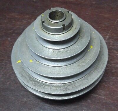 """South Bend 14"""" Drill Press front pulley assembly"""