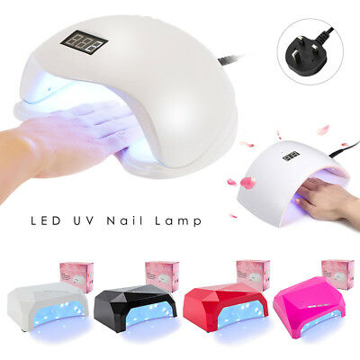 LED Light UV Lamp Nail Dryer Art Curing Gel Gelish Timer Acrylic Polish Lights