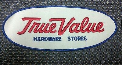 "Vintage True Value Hardware Stores Sew-On Patch 9.5"" x 4"""