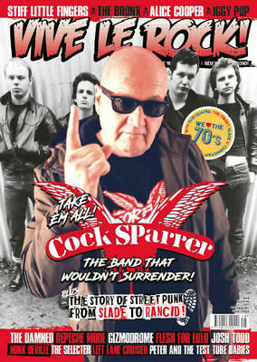 VIVE LE ROCK ISSUE 48 - Oct 2017 *Cock Sparrer, The Damned, The Police *SALE