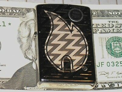 Z Tread Flame ZIPPO Genuine Lighter USA Windproof New Stock Hi Polish Chrome sky