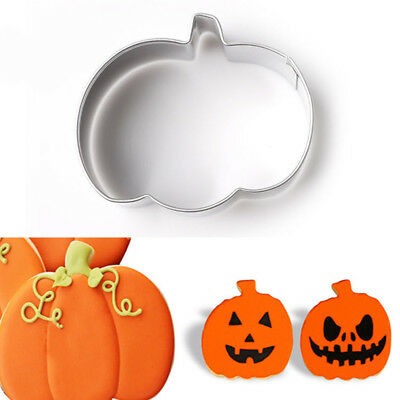 Pumpkin Shapes Buscuit Cookie Cake Jelly Metal Cutter Halloween Baking DIY Tool