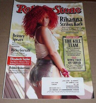 RIHANNA~Rolling Stone Magazine~Issue 1128~April 14, 2011~Excellent