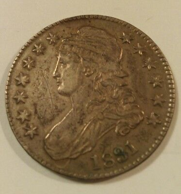 1831 US 50 Cents Silver Coin