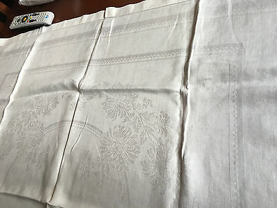 Lot of 4 Vintage Linen Tablecloths in Various Sizes