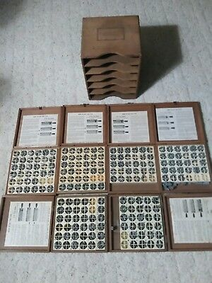 Kingsley stamp sets.  Wooden box set with 6 individual boxes.