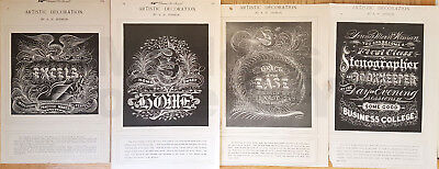 LOT Antique Printed Items from S M Smith Ornamental Penmanship Collection