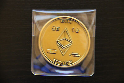 Ethereum Physical Coin Gold 2016 ETH Ether Bit Coin Homestead #17