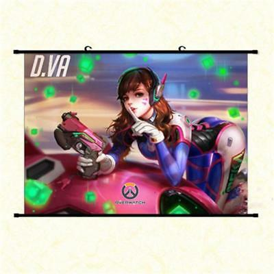"Hot Japan Anime Game Overwatch D.Va Home Decor Poster Wall Scroll 8/""x12/"" P256"