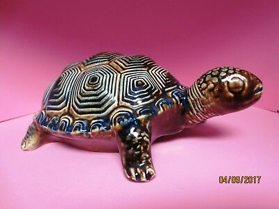 Tortoise Shaped Italian Red Wine Pottery Container Empty