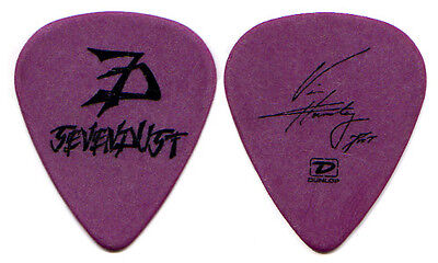 SEVENDUST Guitar Pick : 2005 Next Tour - Vince Hornsby - purple signature