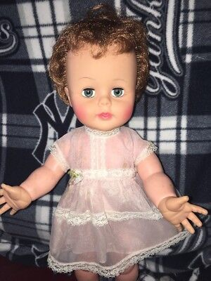 """Adorable Vintage Ideal Doll Kissy 16"""" K-16-1 Still Puckers"""