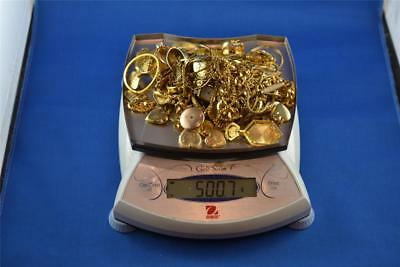 LOT OF 500.7g OF GOLD TONED METAL PLATED / GOLD FILLED / ROLLED GOLD SCRAP