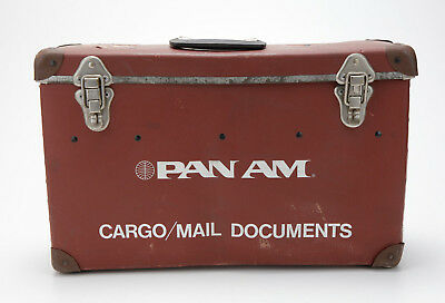 Pan Am Vintage Cargo/Mail Documents Fiberboard Case 0228