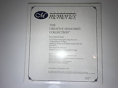 Creative Memories 12x12 Old Style Page Protectors for Scrapbook Album NEW Refill