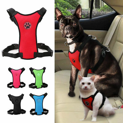 Breathable Air Mesh Pet Dog Cat Car Harness Safety Seat Belt Travel Vest XS-L
