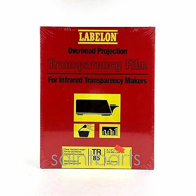 NIP Labelon TR85 Overhead Projection Transparency Film 100 Sheets 3 Mil