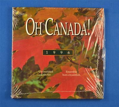 1996 Oh Canada! Canadian Uncirculated Coin Set. 6 Coins Royal Canadian Mint Set.