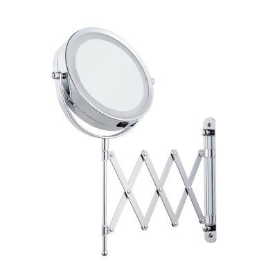 1X/3X Led Makeup Mirror Magnification Wall Mounted Adjustable Cosmetic Mirror
