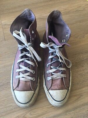 1980's Faded Distressed High Top Purple Converse Size 10