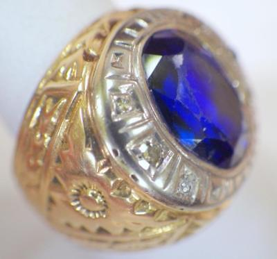 Antique 18KT Yellow Gold Class Type Ring 10.186 Grams Size 8 Circa 1930