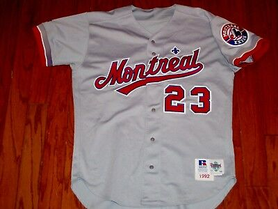 1992 GAME USED MONTREAL EXPOS VINTAGE BASEBALL JERSEY WASHINGTON NATIONALS 1990s