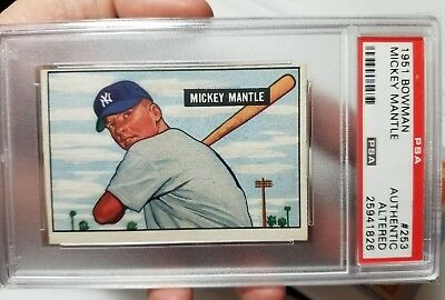 1951 Bowman Mickey Mantle New York Yankees #253 PSA Authentic