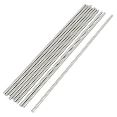 10 Pcs RC Airplane Model Part Stainless Steel Round Rods 3mm x 150mm T6E6